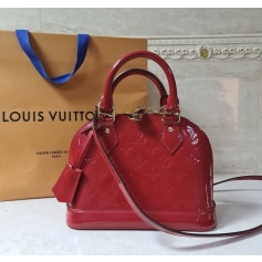 Sac en bandoulière en cuir Louis Vuitton Alma pas cher