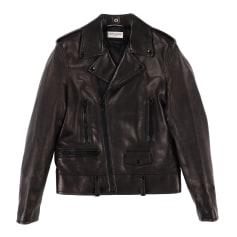Leather Zipped Jacket Saint Laurent