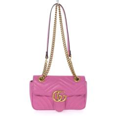 Leather Shoulder Bag Gucci Marmont