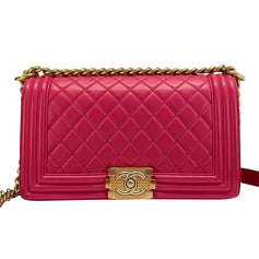 Lederhandtasche Chanel Boy