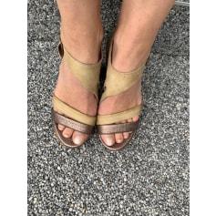 Sandales compensées Mjus  pas cher