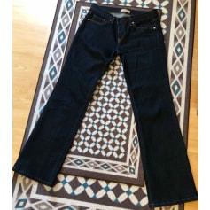 Jeans évasé, boot-cut Uniqlo  pas cher