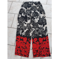 Pantalon très evasé, patte d'éléphant Sisley  pas cher