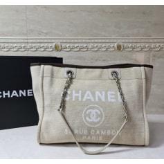 Stoffhandtasche Chanel Deauville