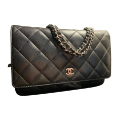 Handtasche Leder Chanel Wallet-On-Chain