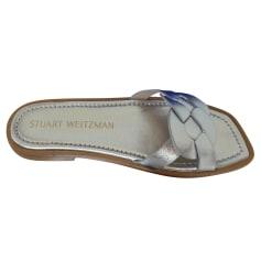 Sandales plates  Stuart Weitzman  pas cher