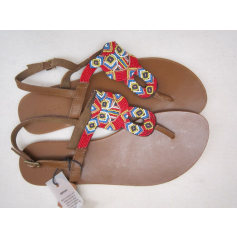 Sandales plates  Pieces  pas cher