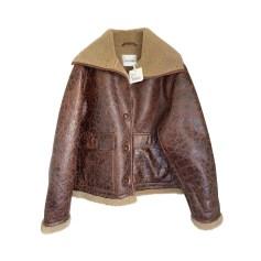 Manteau en cuir American Vintage  pas cher