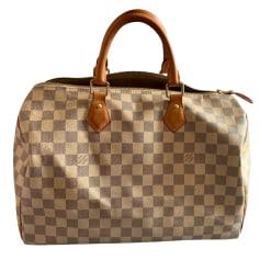 Sac à main en cuir Louis Vuitton Speedy pas cher