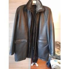 Manteau en cuir Serge Pariente  pas cher