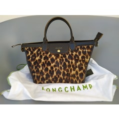Sac à main en cuir Longchamp Pliage pas cher