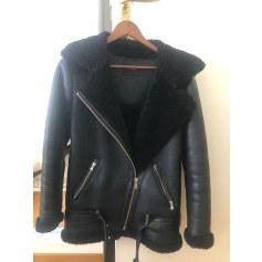 Manteau en cuir Maje  pas cher