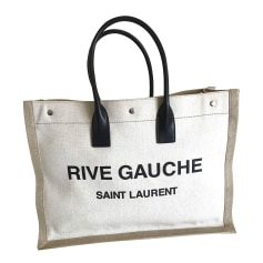 Sac XL en tissu Saint Laurent Shopping pas cher
