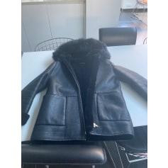 Manteau en cuir Zapa  pas cher