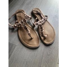Sandales plates  La Halle  pas cher