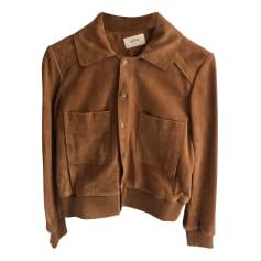 Leather Zipped Jacket Ba&sh