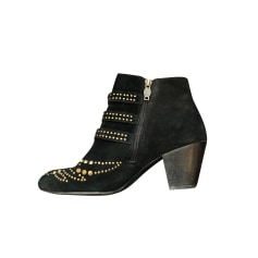 High Heel Ankle Boots Ash