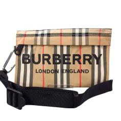 Sac pochette en tissu Burberry  pas cher
