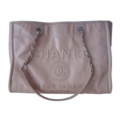Lederhandtasche Chanel Deauville