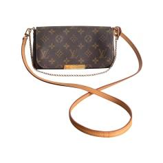Sac en bandoulière en cuir Louis Vuitton Favorite pas cher