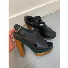 Sandales compensées Marni pour H&M  pas cher