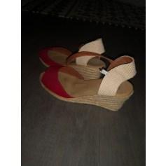 Sandales compensées La Halle  pas cher