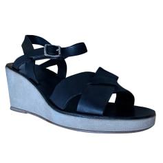 Sandales compensées APC  pas cher