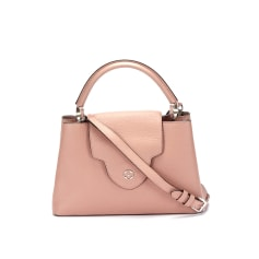 Sac à main en cuir Louis Vuitton Capucines pas cher