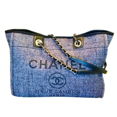 Non-Leather Shoulder Bag Chanel Deauville