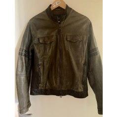 Leather Zipped Jacket Armani