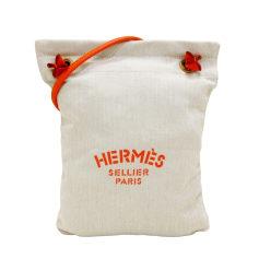 Sac en bandoulière en tissu Hermès  pas cher