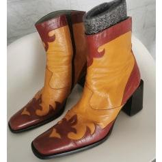 Santiags, bottines, low boots cowboy Enrico antinori  pas cher