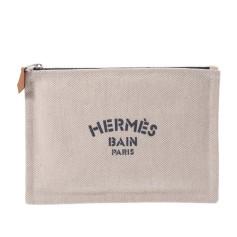Sac pochette en tissu Hermès  pas cher