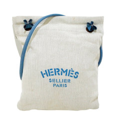 Sac XL en tissu Hermès  pas cher