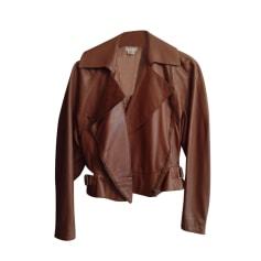 Manteau en cuir Alaïa  pas cher