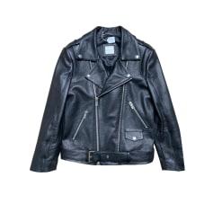 Leather Zipped Jacket Anine Bing