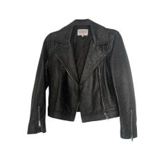 Leather Zipped Jacket Claudie Pierlot