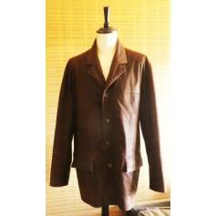 Manteau en cuir Yves Saint Laurent  pas cher