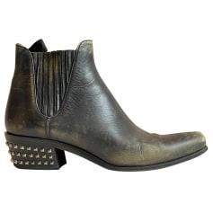 Bottines & low boots motards Miu Miu  pas cher