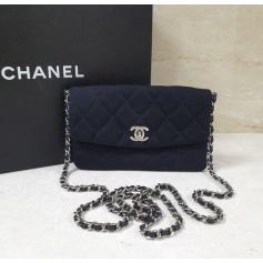 Sac en bandoulière en tissu Chanel  pas cher