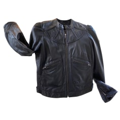 Leather Zipped Jacket Chacok