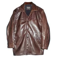 Manteau en cuir Serge Blanco  pas cher