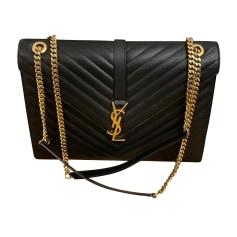Lederhandtasche Saint Laurent Enveloppe