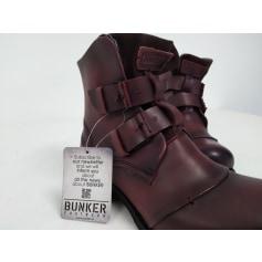 Bottines & low boots plates Bunker  pas cher
