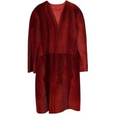 Manteau en cuir Max Mara  pas cher