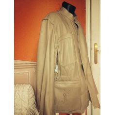Leather Coat Yves Saint Laurent