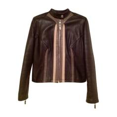 Veste en cuir Versace  pas cher