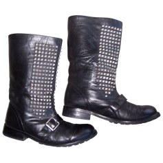 Bottines & low boots motards Friis & Company  pas cher