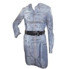 Robe en jeans John Galliano  pas cher