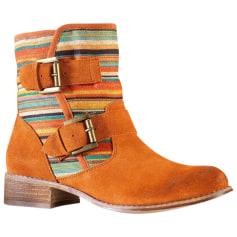 Santiags, bottines, low boots cowboy 3 Suisses  pas cher